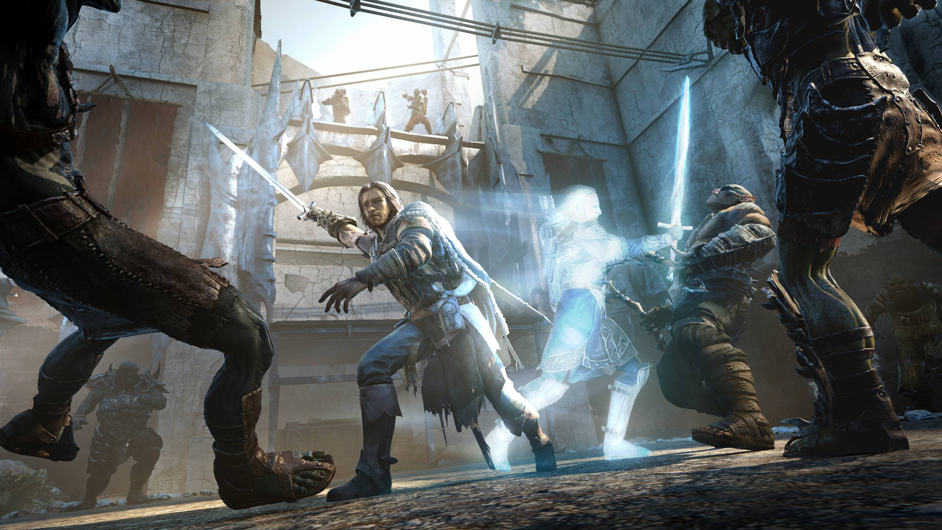 "A ranger named Talion and his ghostly companion invade an orc fortress in ""Middle-earth: Shadow of Mordor."""