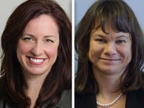 Democrat Jenny Burke, left, and Republican Christine Winger are running for the 45th House seat in the Nov. 4 election.