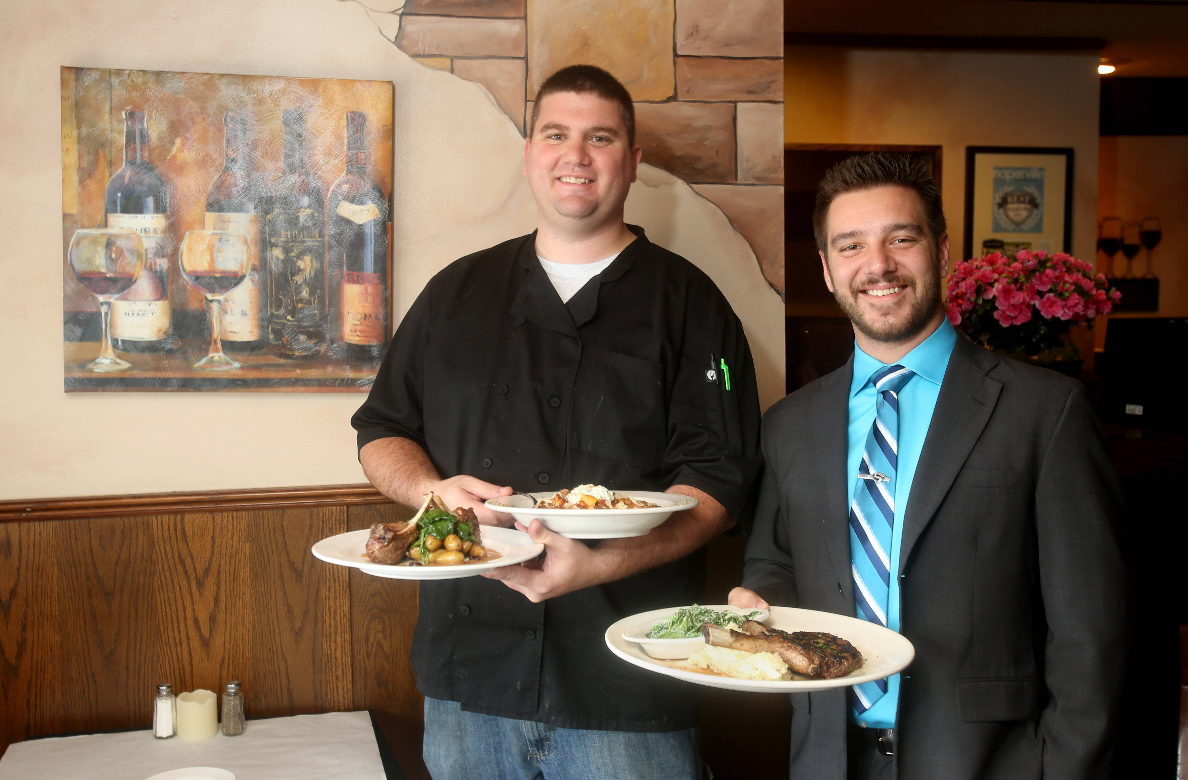 Chef Ryan Gramit, left, and owner Bryan Werschulz, took over Walker's Charhouse on Gartner Road in Naperville earlier this year.