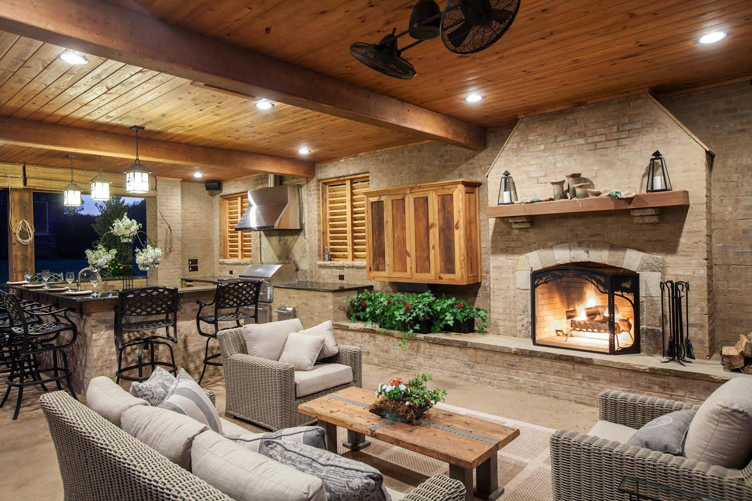 This Outdoor Space Was Built To Be Usable Regardless Of The Weather In  Mississippi. The