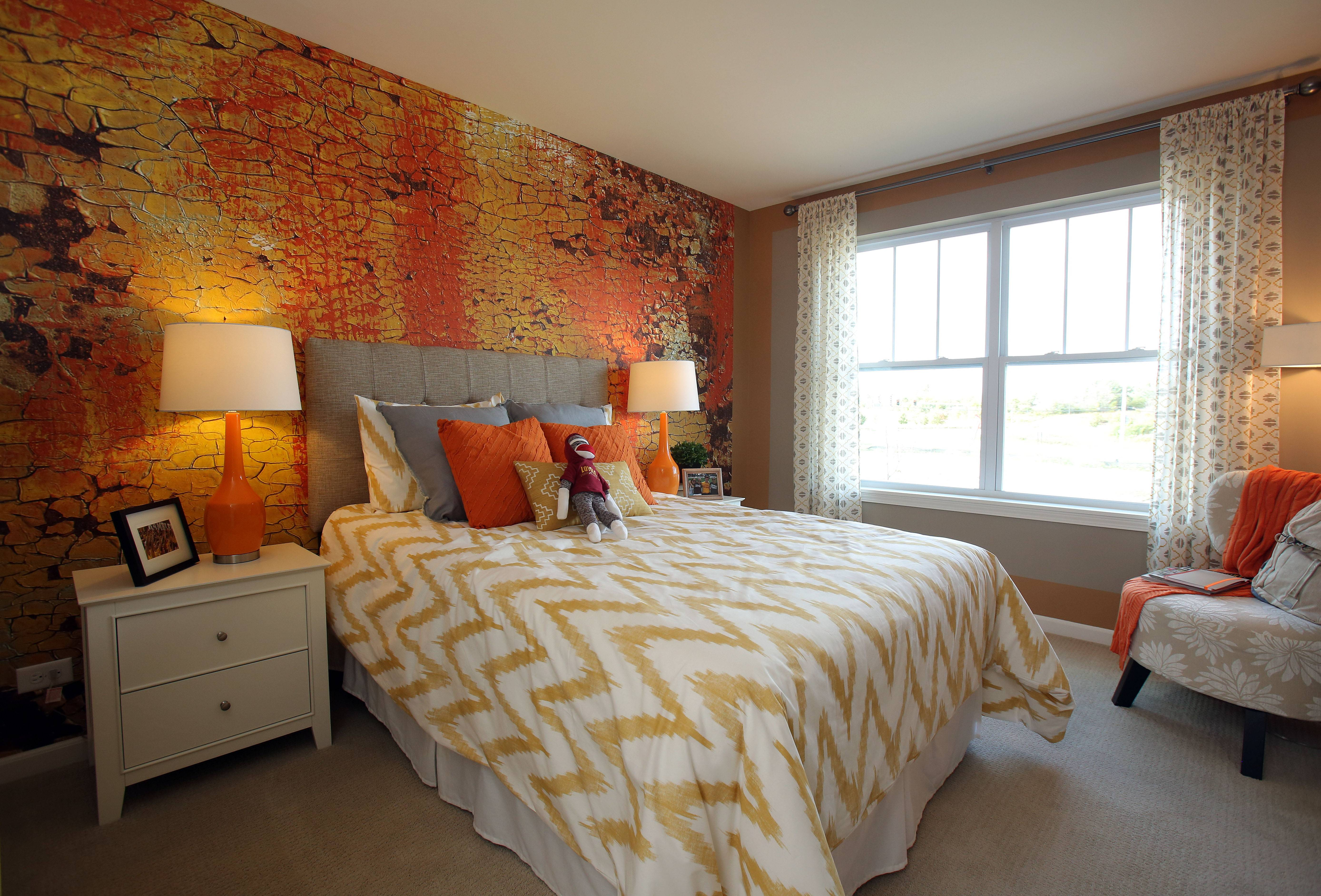 The second bedroom in the Summit model home is furnished for a daughter.