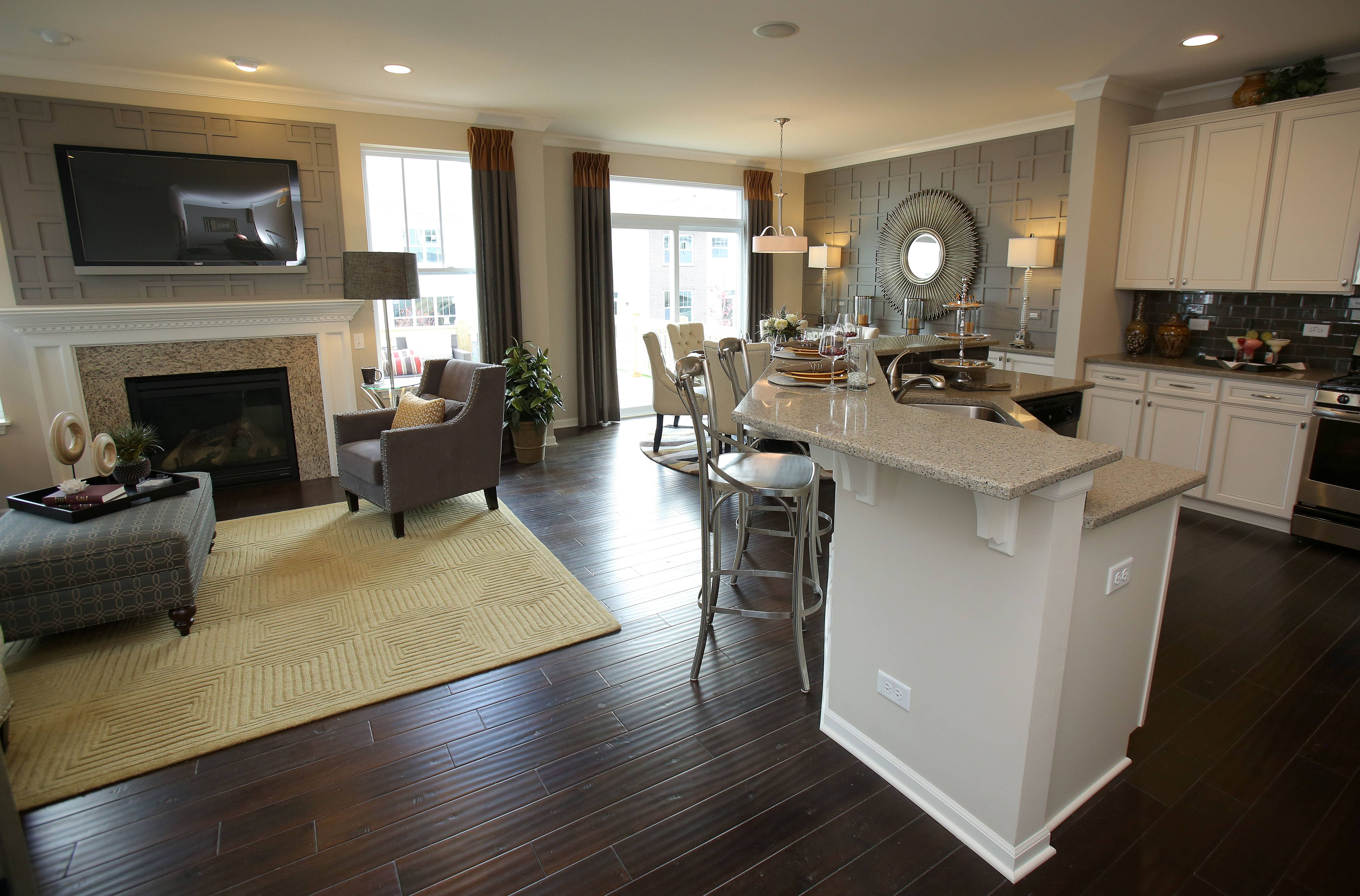 The Summit features and open floor plan with the kitchen open to the main-floor living areas.