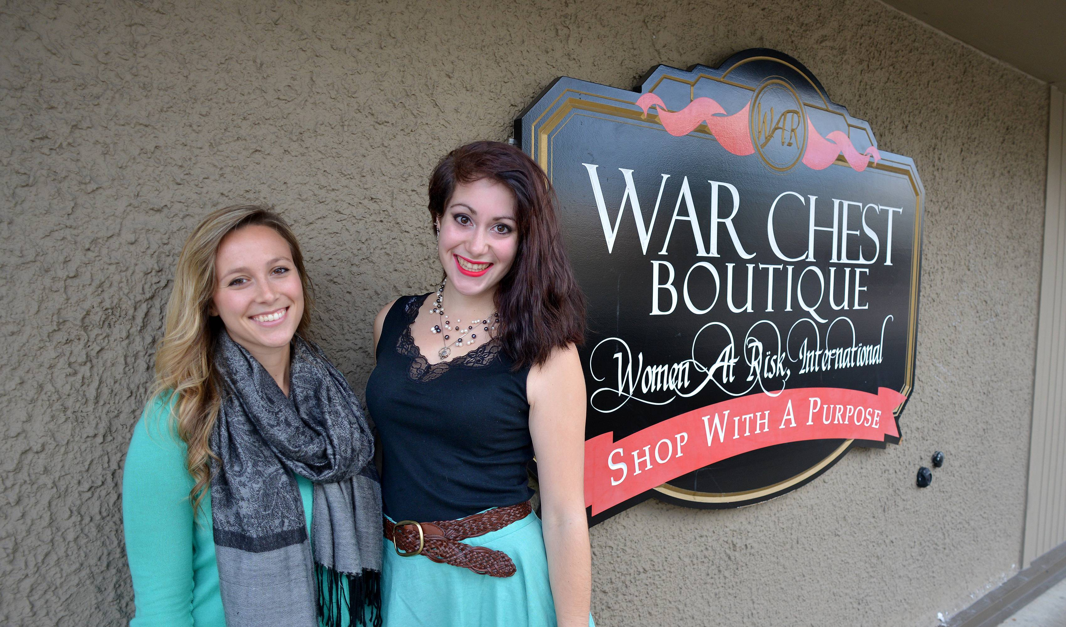 Jessie Dattalo of Wheaton, left, and Meggie Zayas of Lombard are organizing Because One Is Too Many to raise awareness of domestic abuse and sexual assault on Saturday, Oct. 11, at Benedictine University in Lisle. After the event, participants will be invited to go to the WAR Chest Boutique in Naperville, where Zayas volunteers.