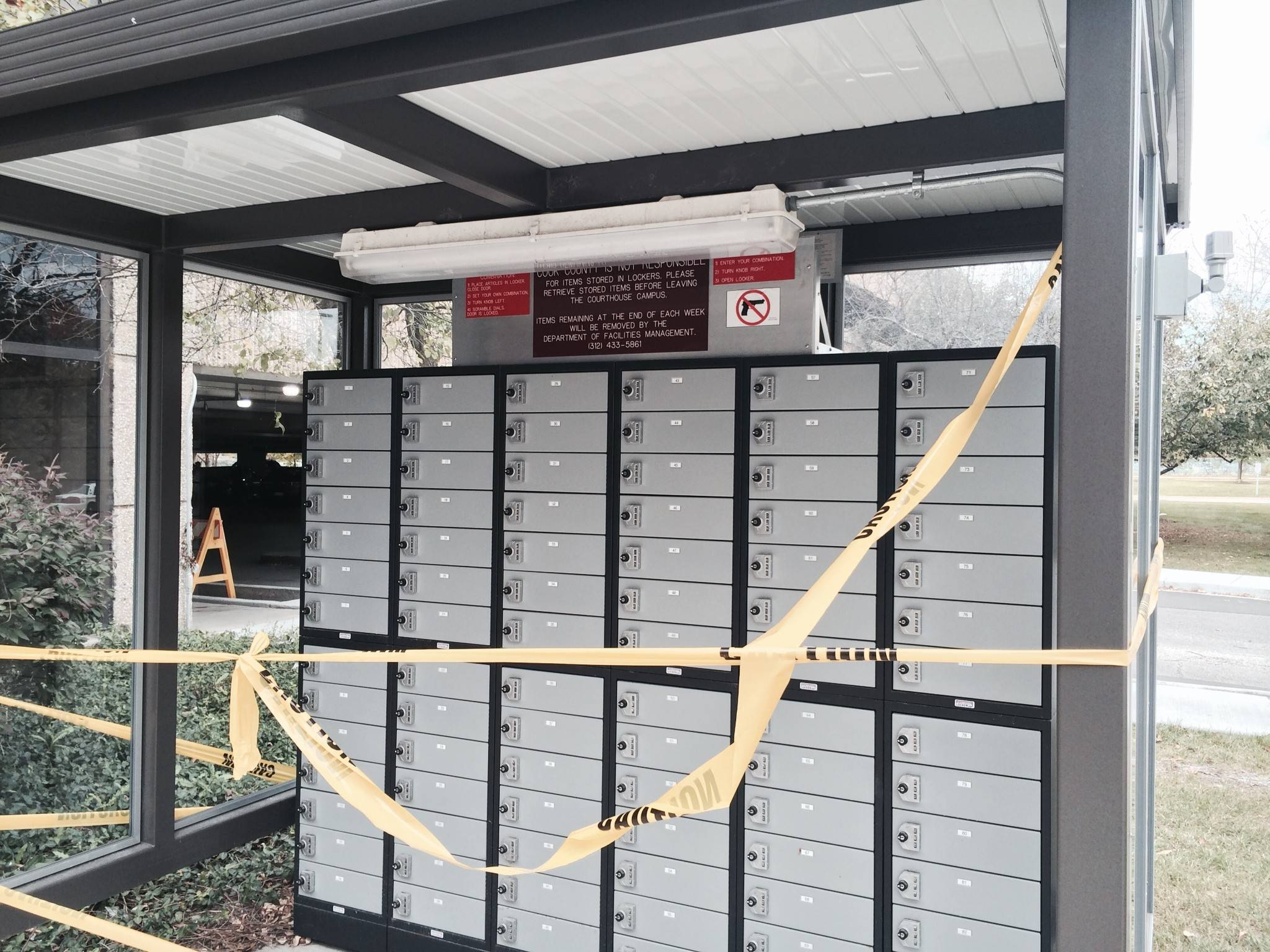 The County Installed A Set Of Lockers Outside The Courthouse In Rolling  Meadows For Visitors To