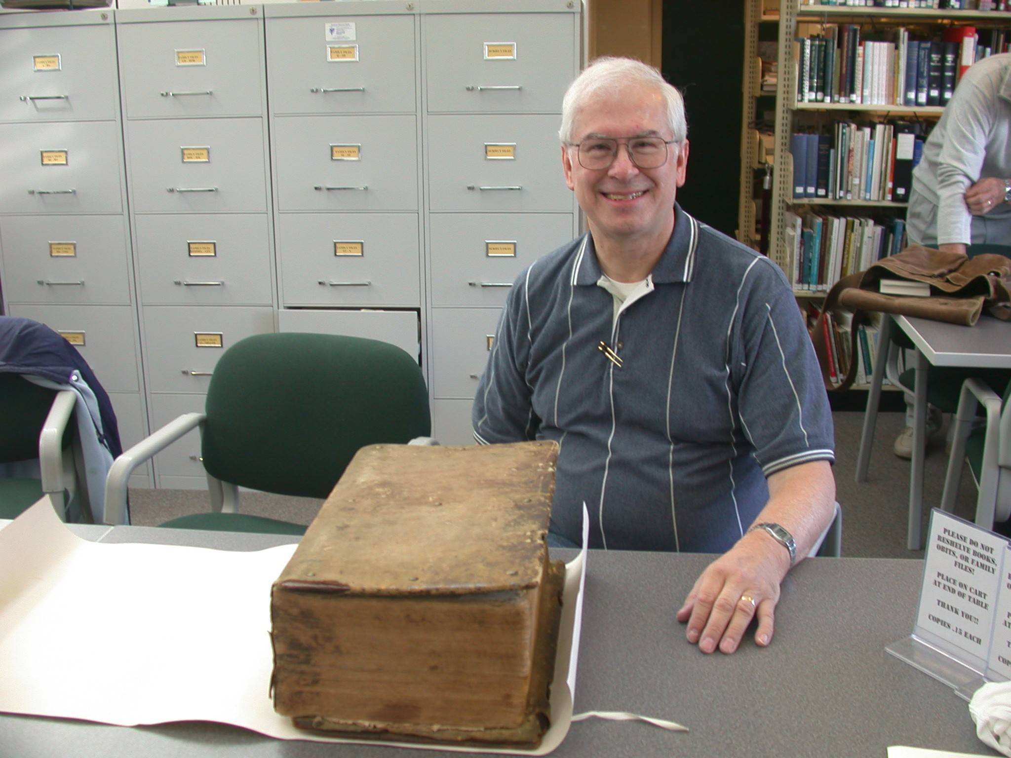 "Dan Wertz of Buffalo Grove has come a long way since he was only able to list ""American"" as his family history in a grade school project. He was excited to visit the Somerset (Pennsylvania) County Historical Society where he found the German Bible of his ancestors."