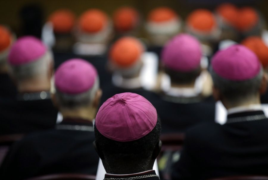Conservative Catholic bishops concerned about an unprecedented opening to gays and divorced people are seeking to make their voices heard at a Vatican meeting on family life, emphasizing the benefits of faithful Catholics, the fundamentals of church doctrine and the dangers of sin.
