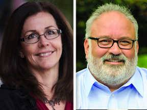 Sheri Jesiel, left, and Loren Karner are candidates for the 61st State House District seat.