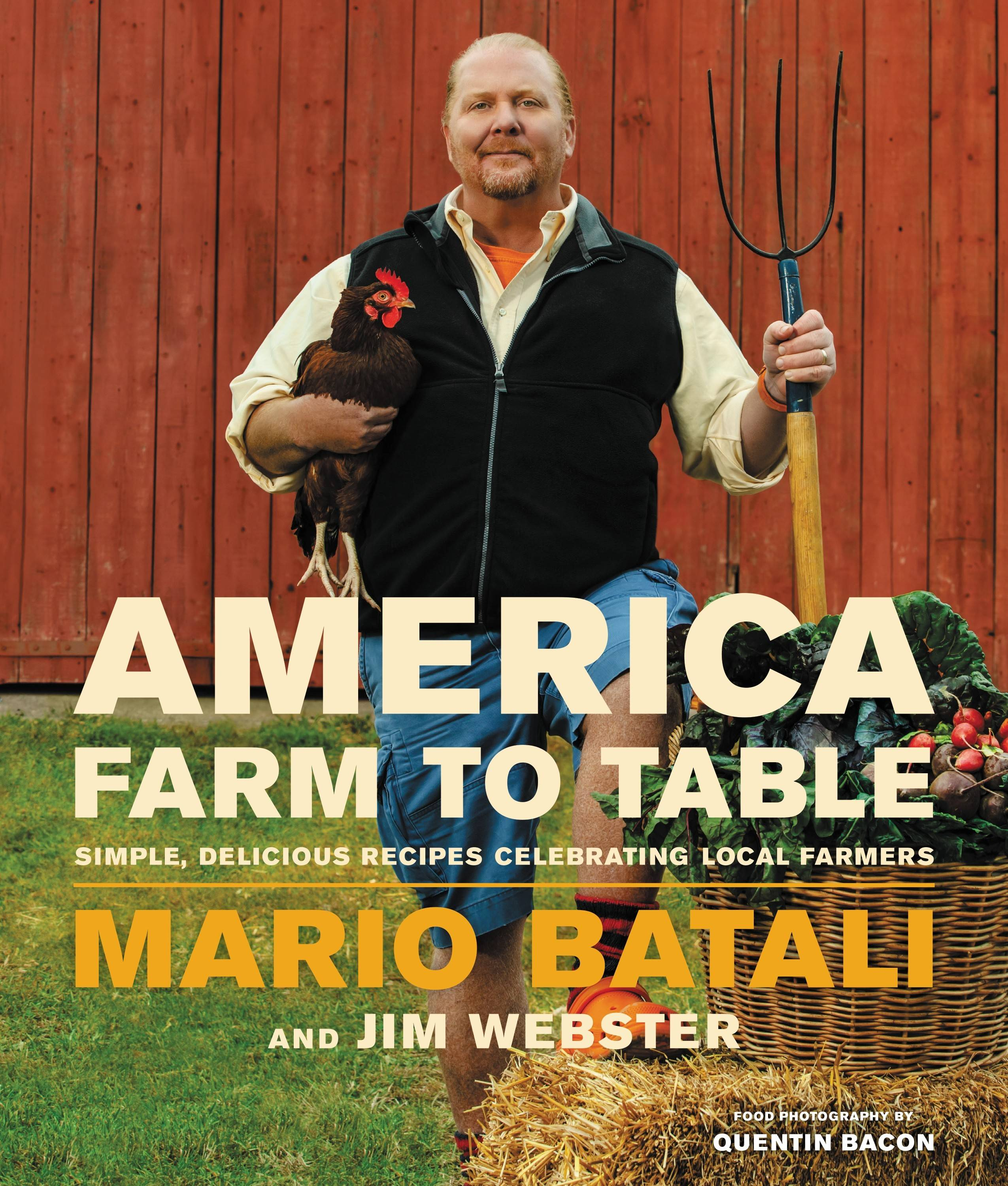 "Mario Batali discusses and signs copies of his new book, ""America Farm to Table,"" on Thursday, Oct. 23, at the Tivoli Theatre."