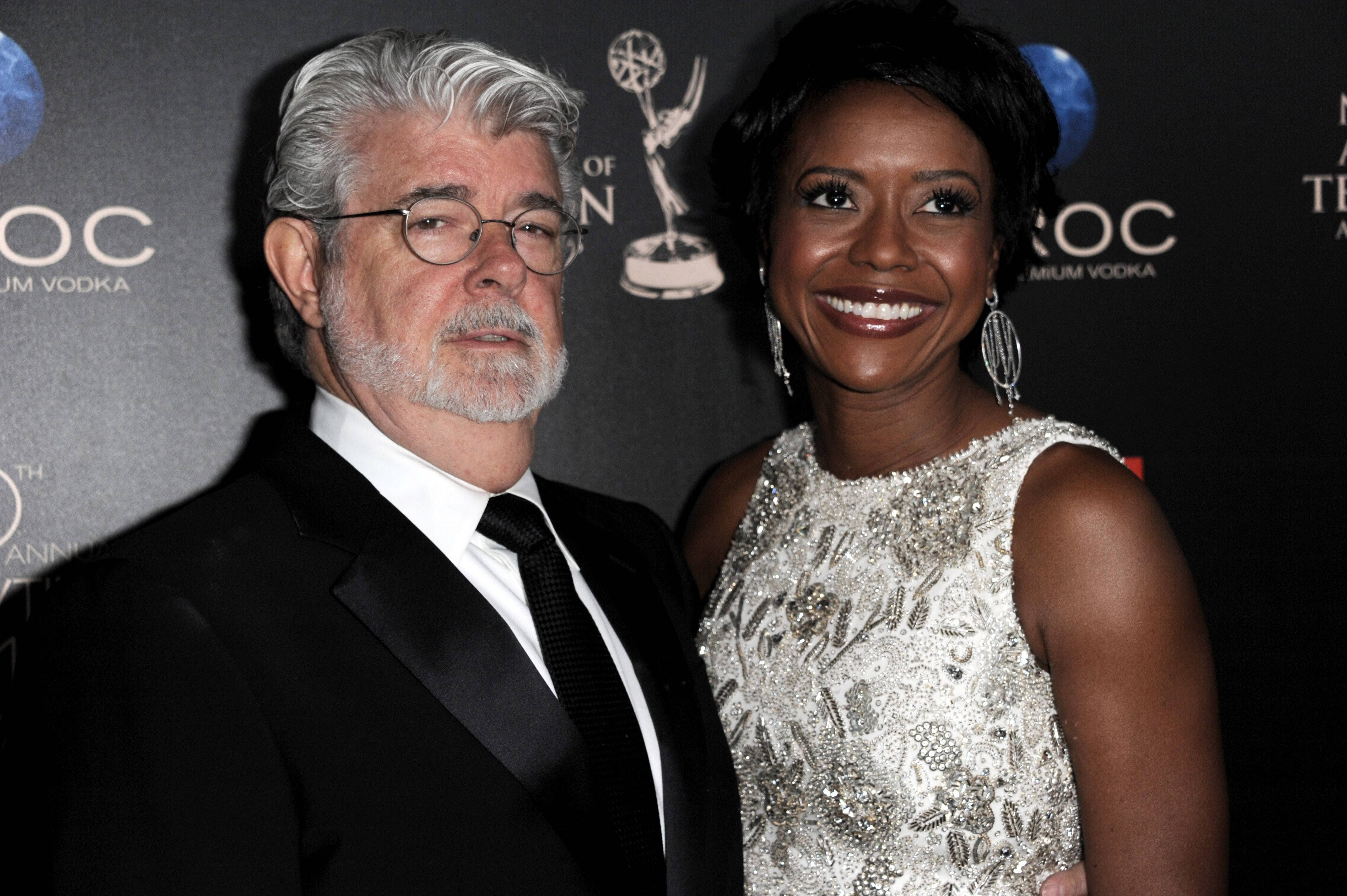George Lucas says his wife, Mellody Hobson, encouraged him to put his planned art and movie memorabilia museum in Chicago.