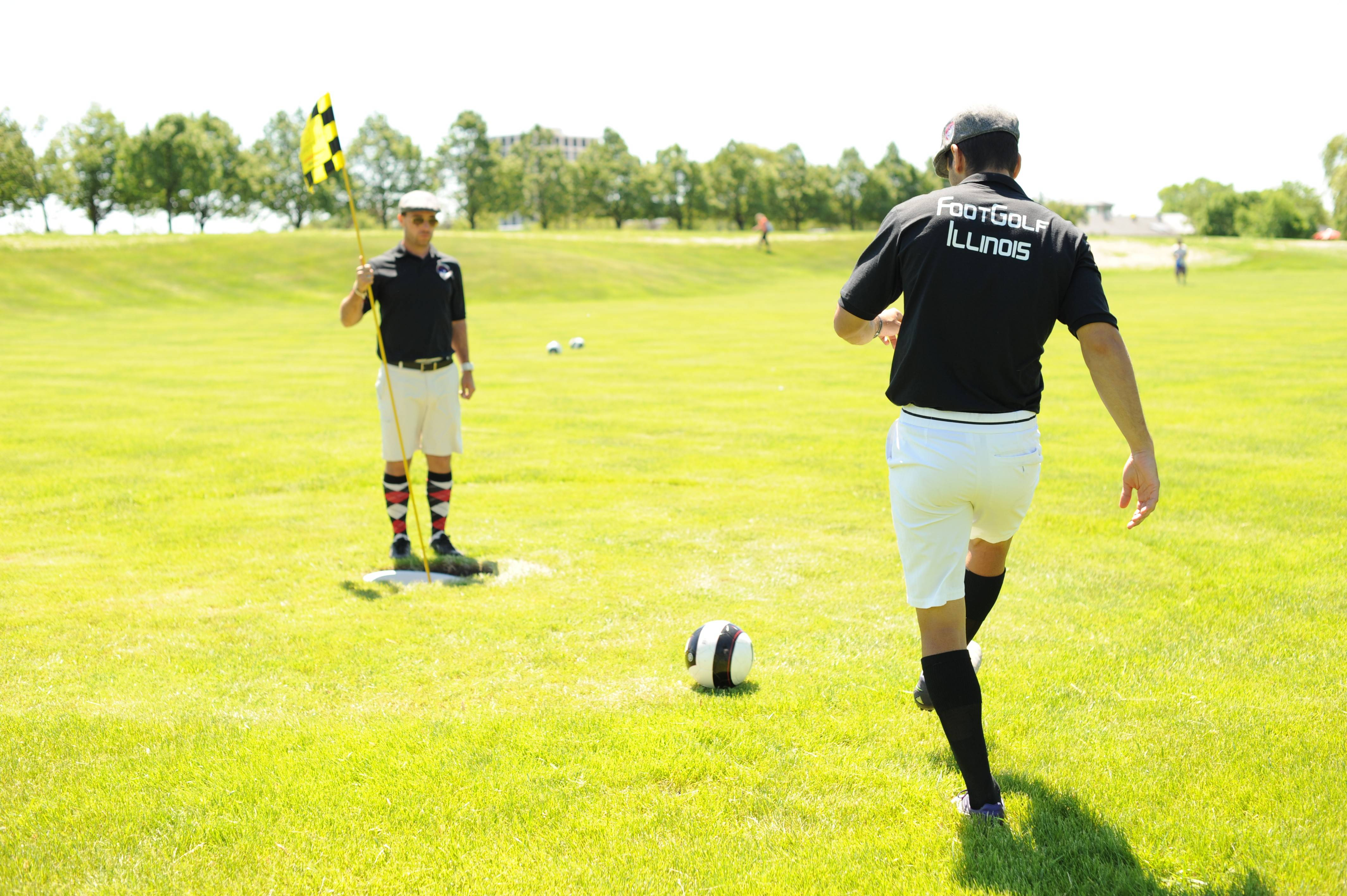 FootGolf is growing across the suburbs as several golf courses have begun offering this soccer-infused twist on traditional golf. FootGolf will begin at Naperville Park District's Naperbrook Golf Course with a tournament today.