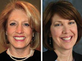 Leslie Munger, left, and Carol Sente are candidates for the 59th House District seat.