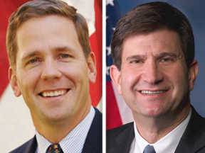 Republican Bob Dold, left, is trying to reclaim the 10th Congressional District seat from Democrat Brad Schneider.