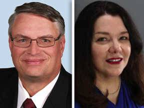 Republican Paul Hinds, left, and Democrat Jean Kaczmarek are running for DuPage County clerk in the Nov. 4 general election.