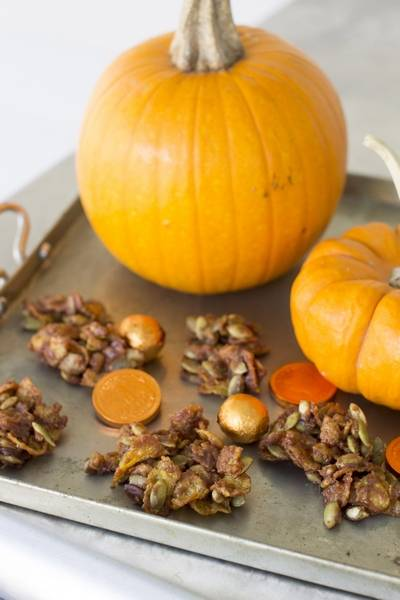 granola like spicy sweet mole pumpkin seed clusters help balance out the rest of