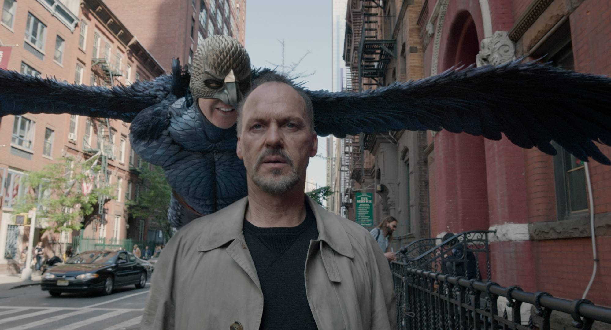 "A director/actor (Michael Keaton) is bullied by his superhero conscience in ""Birdman."""