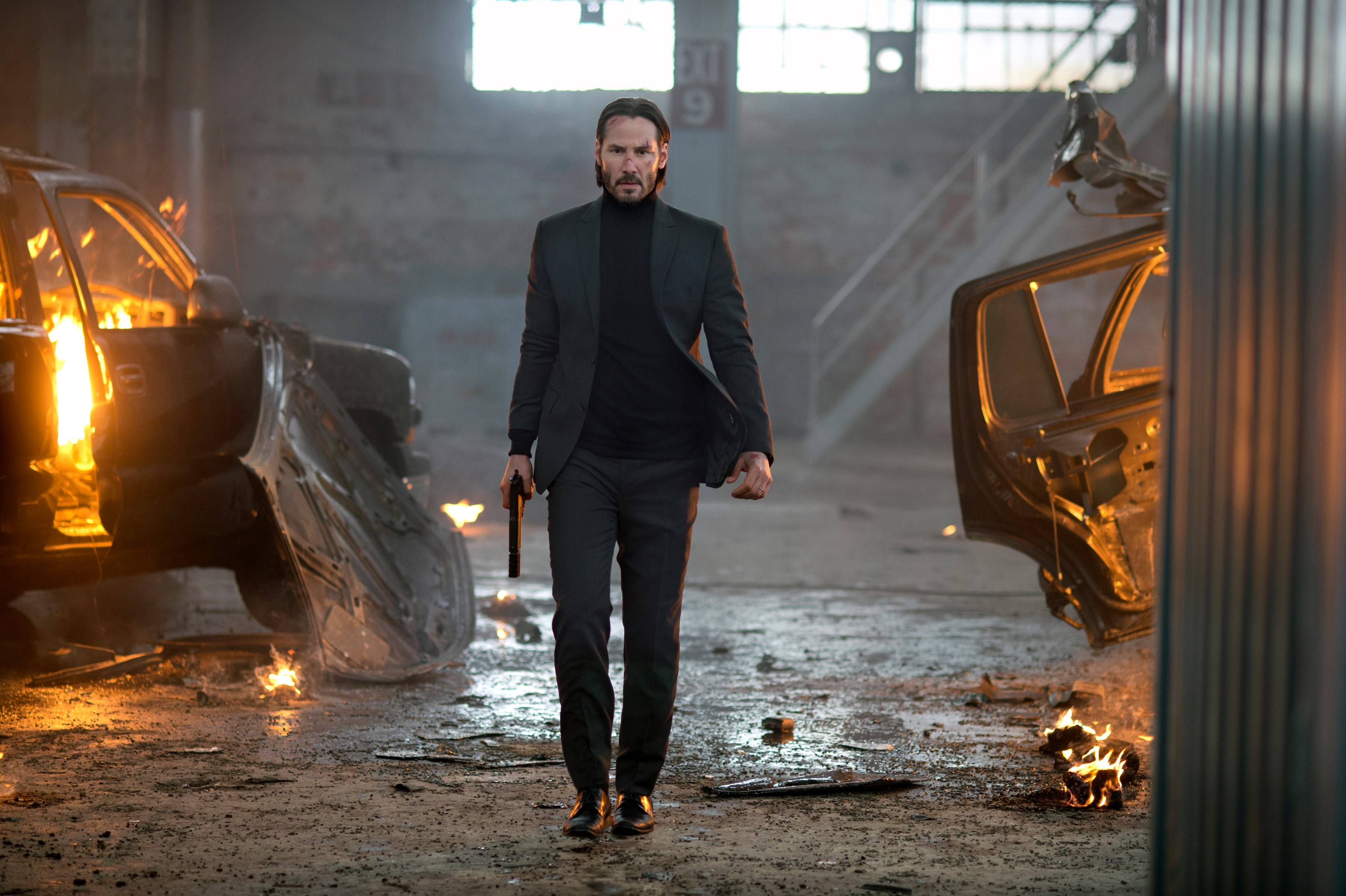 "Keanu Reeves plays a man on a mission of revenge in the cool, stylized action film ""John Wick."""