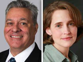 Republican challenger Jim Moynihan and Democratic incumbent Michelle Mussman are candidates for the 56th District state House seat in the 2014 general election.