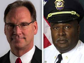 Don Kramer, left, and Willie Mayes Sr. are candidates for Kane County sheriff.