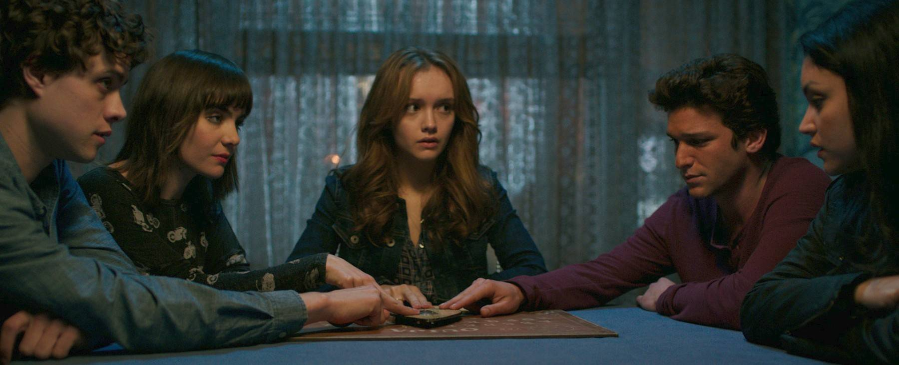 "Teens attempt to make contact with a dead friend in ""Ouija."""