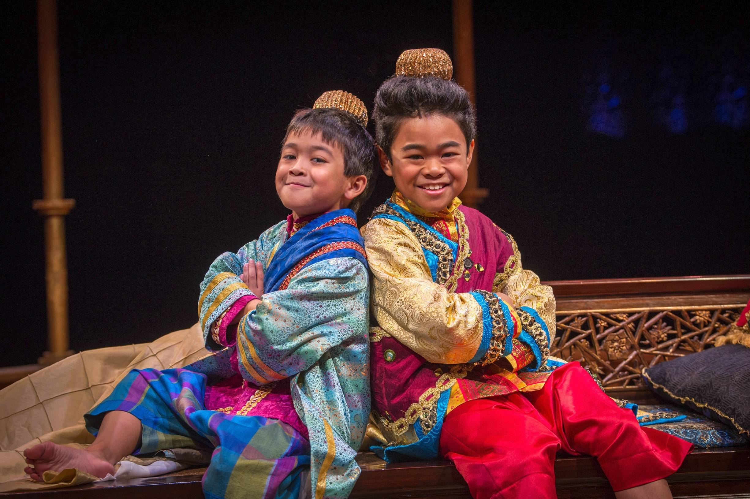 "The Uzarraga brothers Zachary, 9, (left) and Matthew, 11, of Sugar Grove make their debuts at the Marriott Theatre in Lincolnshire in a new production of Rodgers and Hammerstein's ""The King and I."""