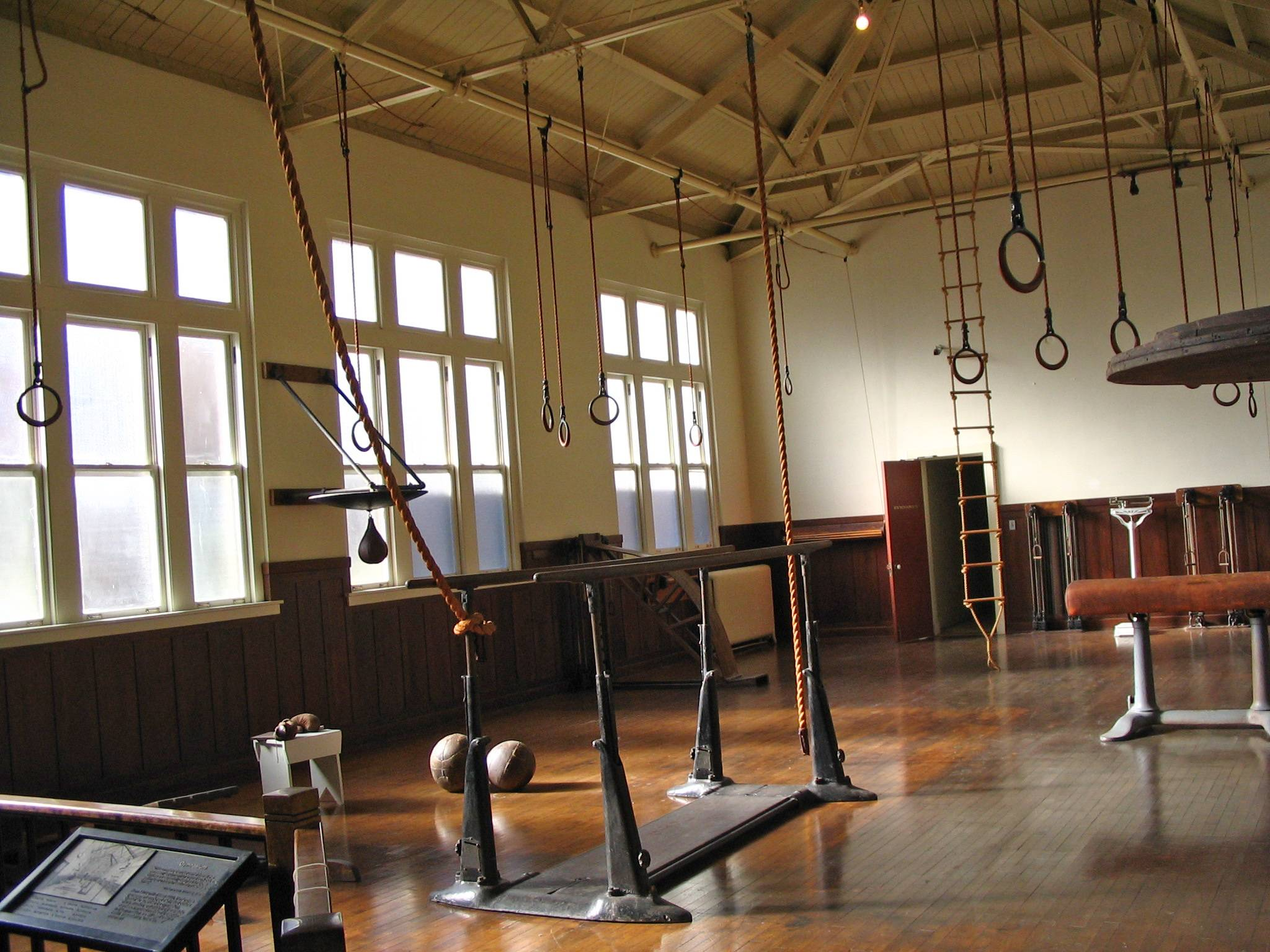 Nice An Old Fashioned Gym Is Part Of A Museum At The Fordyce Bathhouse In Hot