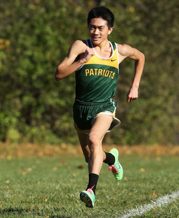 Stevenson's Sam Oh finished second in 15:40.94 at the Libertyville cross country regional at Adler Park on Saturday in Libertyville.