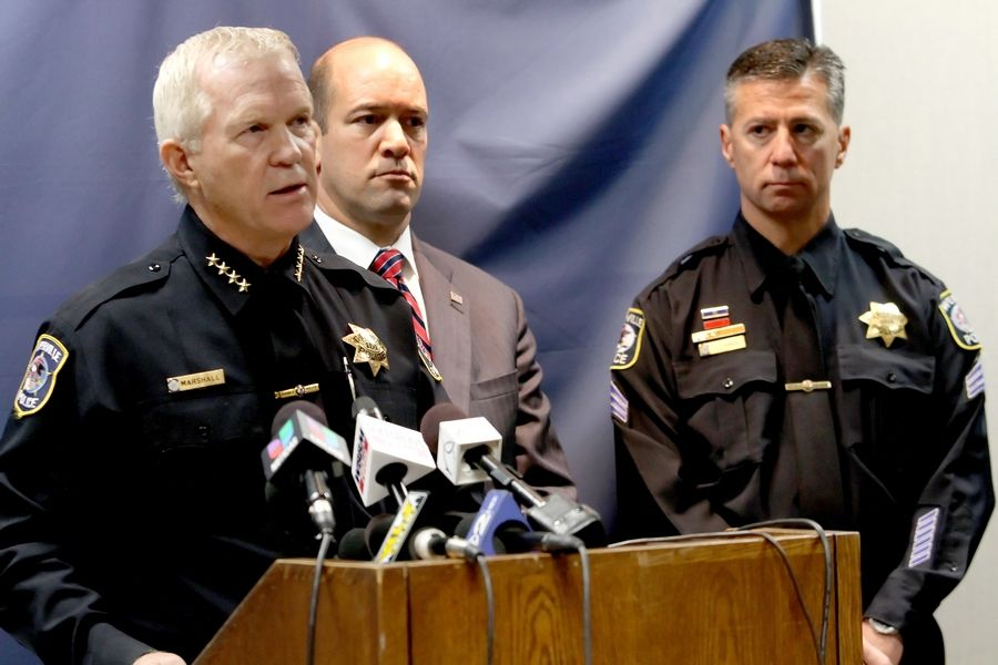"""There are no directions on a packet of heroin that say how much you should use and how much you should take within a certain time period, and that's how people overdose."" -- Naperville Police Chief Robert Marshall, left"