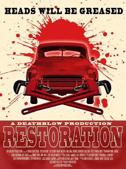 "The poster art for Ryan Oliver's new movie ""Restoration"" makes it clear why it's being shown on the night before Halloween at the Logan Theatre in Chicago."