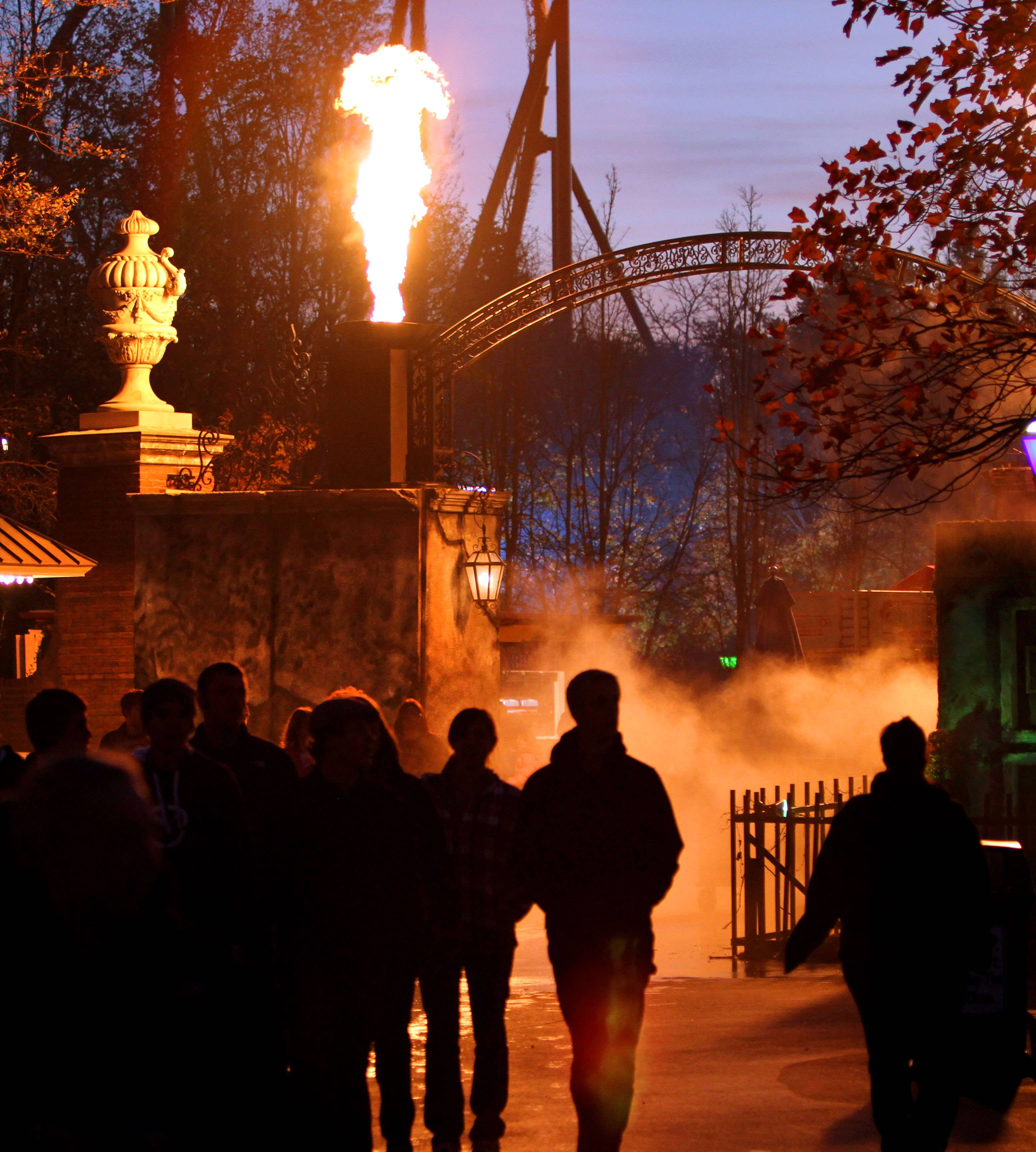 Six Flags Great America in Gurnee rackets up the thrills during Fright Fest.