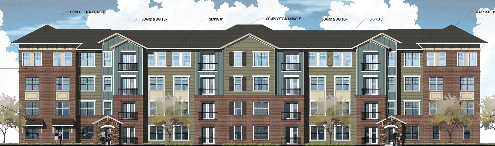 Schaumburg zoning board members are considering a new residential development along Algonquin Road containing six apartment buildings with a total of 192 units.