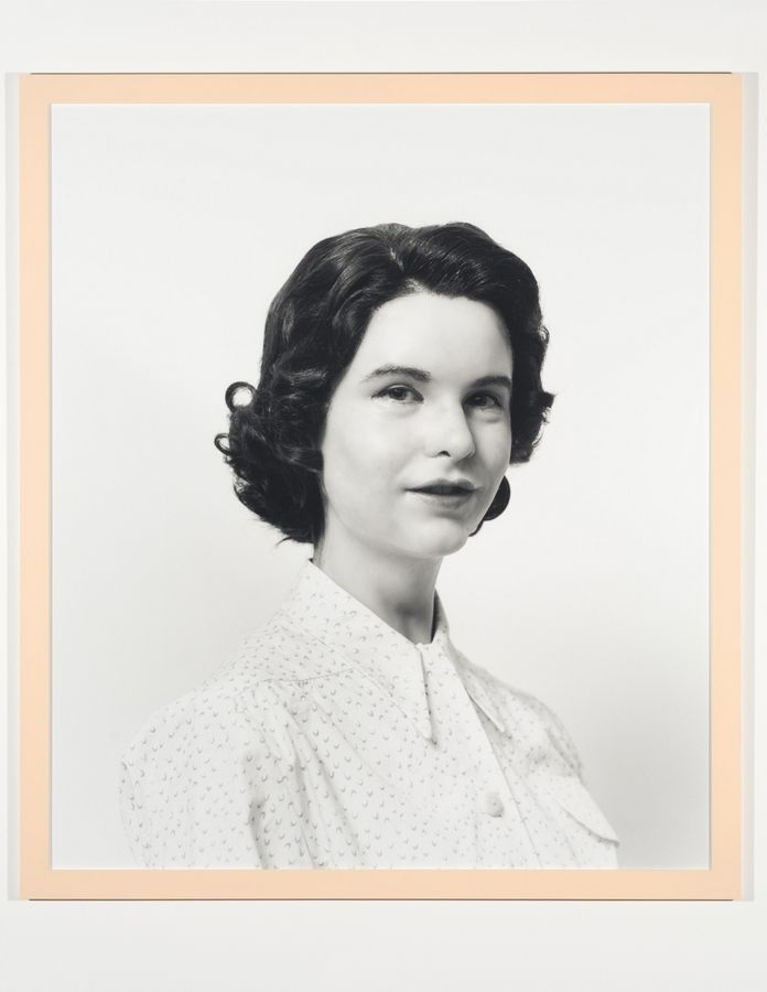 "Gillian Wearing's 2003 piece ""Self-Portrait as my Mother, Jean Gregory"" appears in the exhibit ""Body Doubles"" at the Museum of Contemporary Art in Chicago."