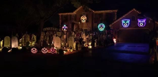 Naperville duo create spectacular Halloween display