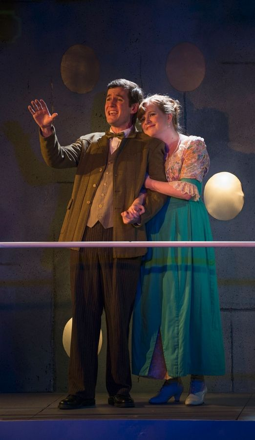 "Matt Edmonds plays the son of a grocer in love with an aristocrat played by Laura McClain, of Grayslake, in Griffin Theatre Company's revival of the 1997 musical ""Titanic"" by composer/lyricist Maury Yeston and writer Peter Stone."