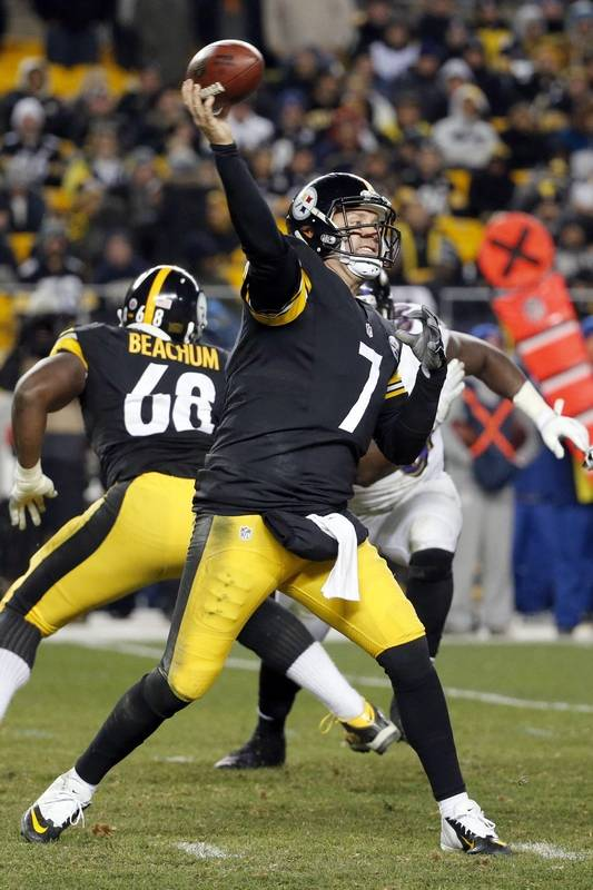 Steelers Quarterback Ben Roethlisberger Passes In The Fourth Quarter Sunday Night Against Baltimore Ravens
