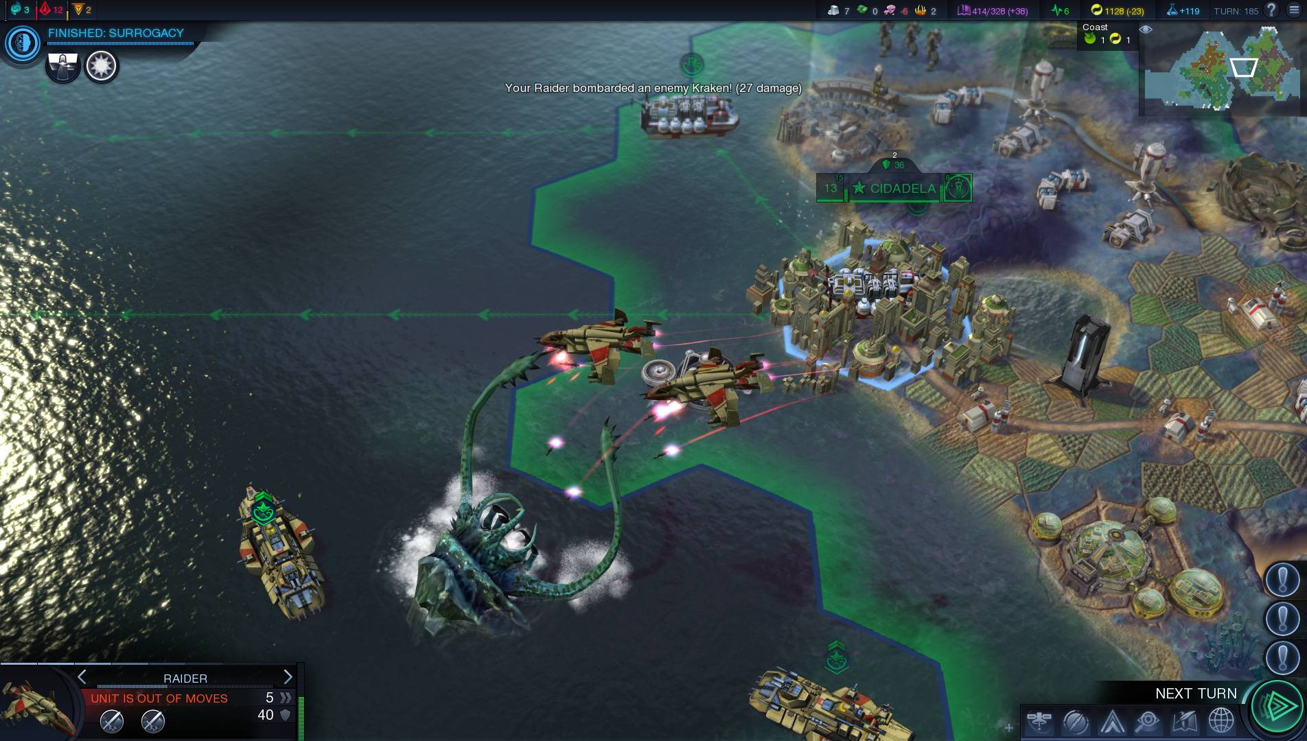 """Sid Meier's Civilization: Beyond Earth"" lets you invest in four kinds of ""virtues"": might, prosperity, knowledge and industry."