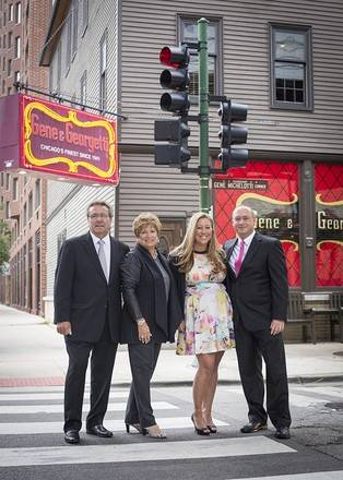 Tony Durpetti, from left, Marion Durpetti, Michelle Durpetti; and General Manager Richard Ciota of Gene and Georgetti Restaurant.