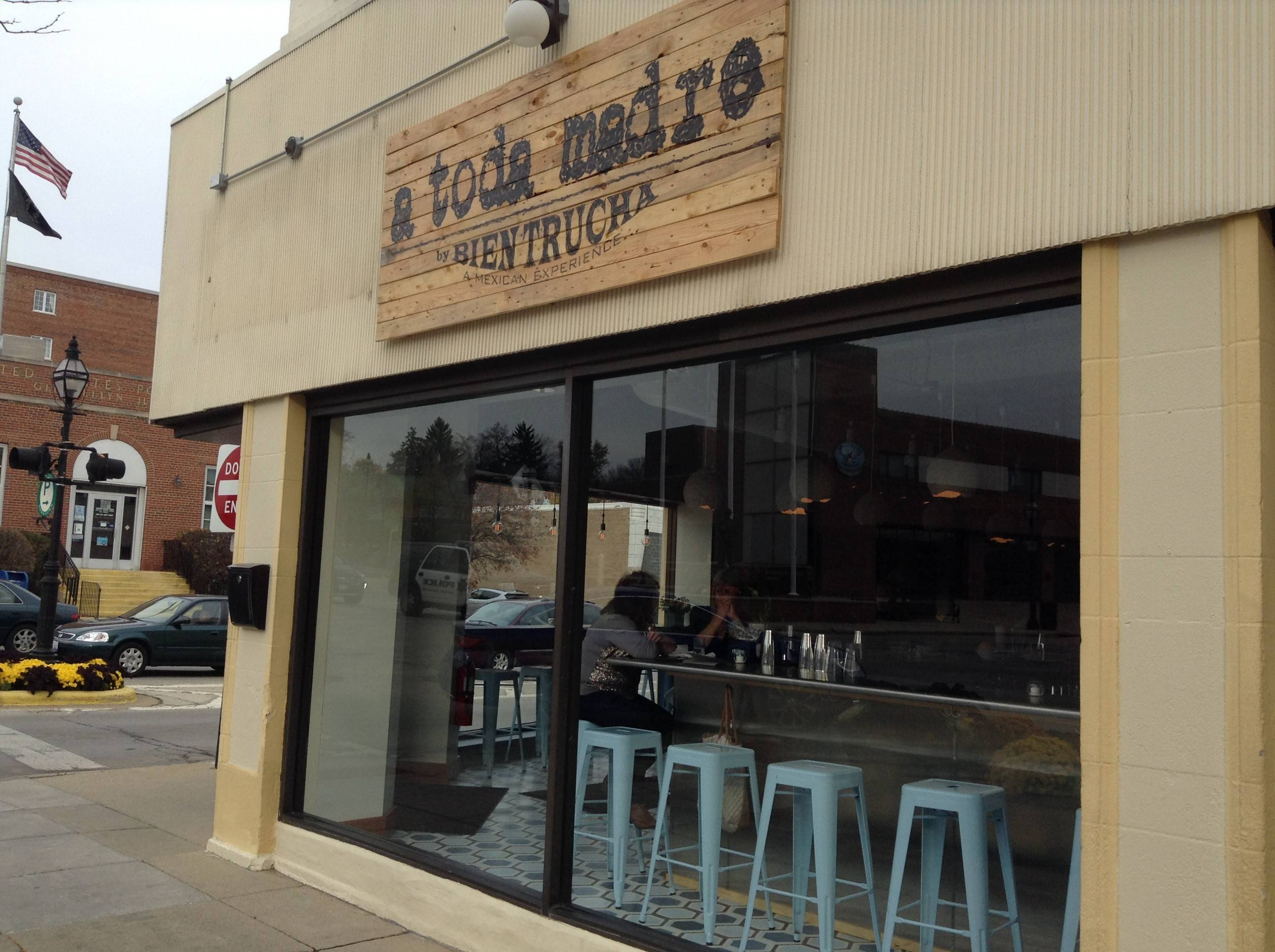 Glen Ellyn's new Mexican restaurant, a toda madre, officially opened Tuesday at 499 N. Main St.