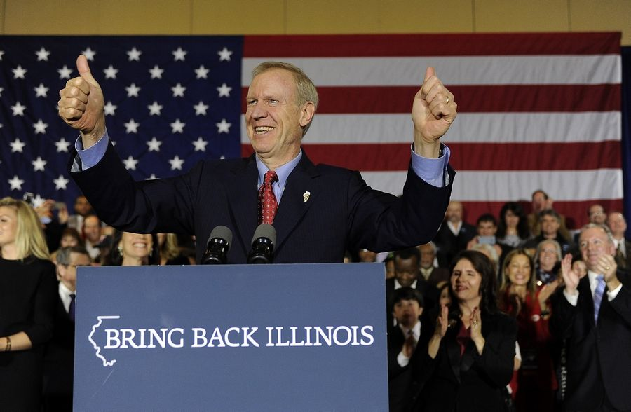 Bruce Rauner wins Illinois governor.