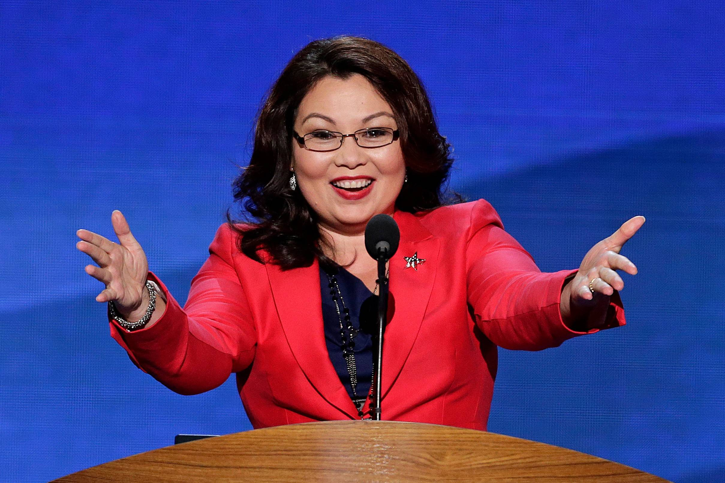 Images: Tammy Duckworth at the 2008 and 2012 Democratic National Conventions