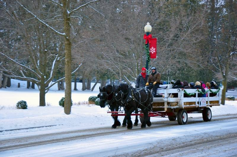 Wisconsin s elkhart lake transforms for the holidays