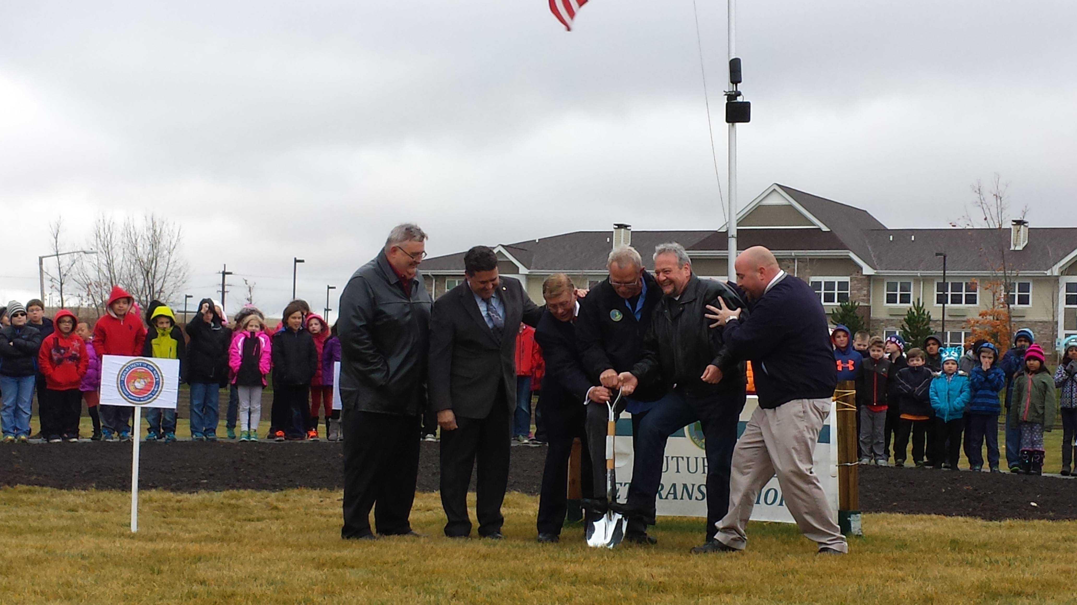 Lake in the Hills breaks ground on veterans memorial