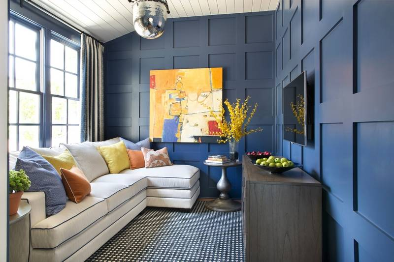 Geometric Patterns Like This Paddock Houndstooth In Navy From Shaw Industries Continue To Be