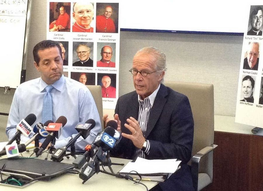 Attorneys Marc Pearlman and Jeff Anderson on Tuesday called on Archdiocese of Chicago officials to release the names and files of priests accused of child sex abuse -- whether the allegations were deemed credible.