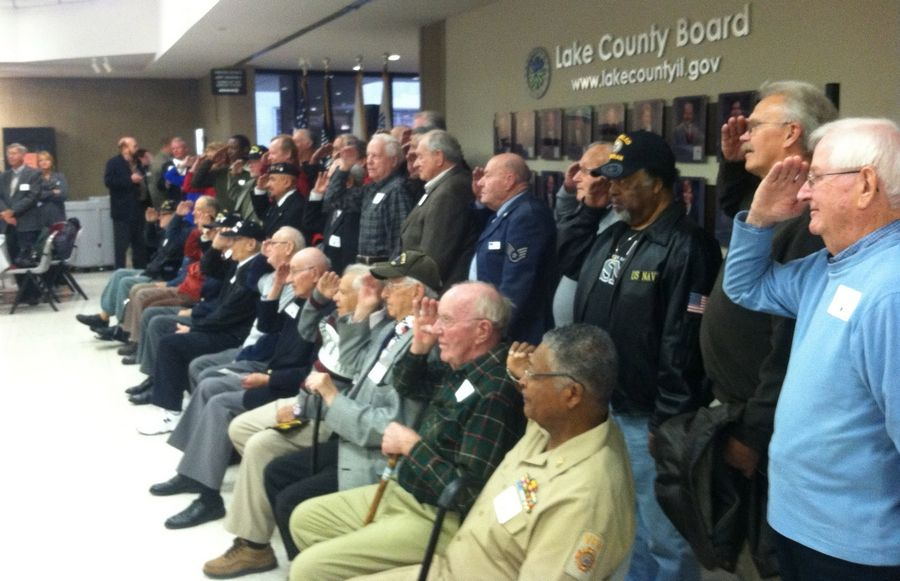 Nearly three dozen veterans from across Lake County took part in the Library of Congress' Veterans History Project at the county courthouse in Waukegan early Tuesday. Volunteer attorneys and court reporters took down the veterans' accounts of their service and will be sending them to the Library of Congress for inclusion in the project.
