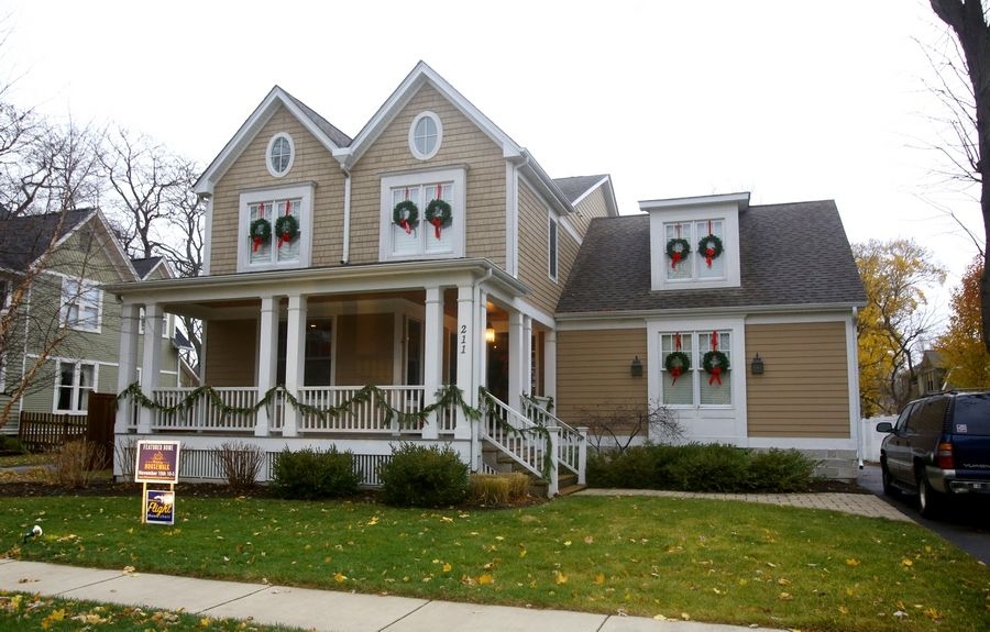Built in 2007, the Pierce home on Franklin Street was designed to fit in with a turn-of-the century neighborhood. It is one of five homes featured in the Holiday Housewalk, a benefit for the Flight show choir at Wheaton North High School.