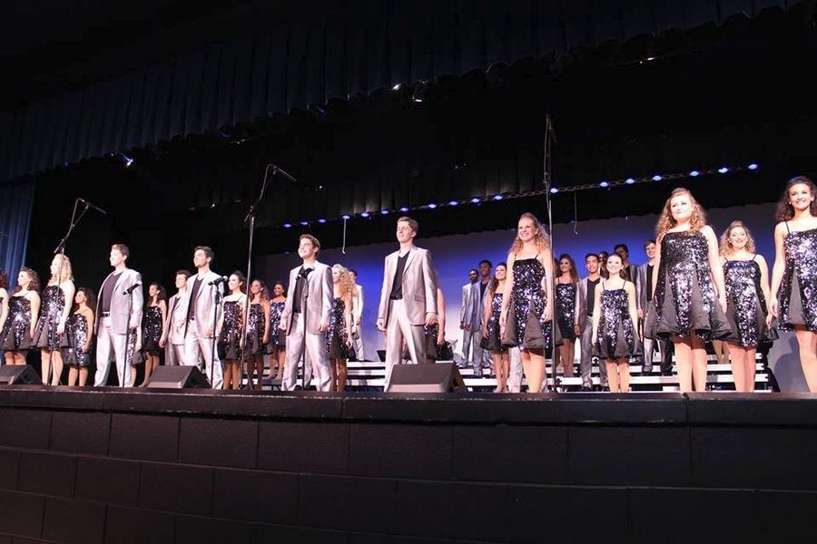 The Flight show choir has grown from 36 to 48 members under the leadership of Kassandra Krause, director of vocal music at Wheaton North High School.