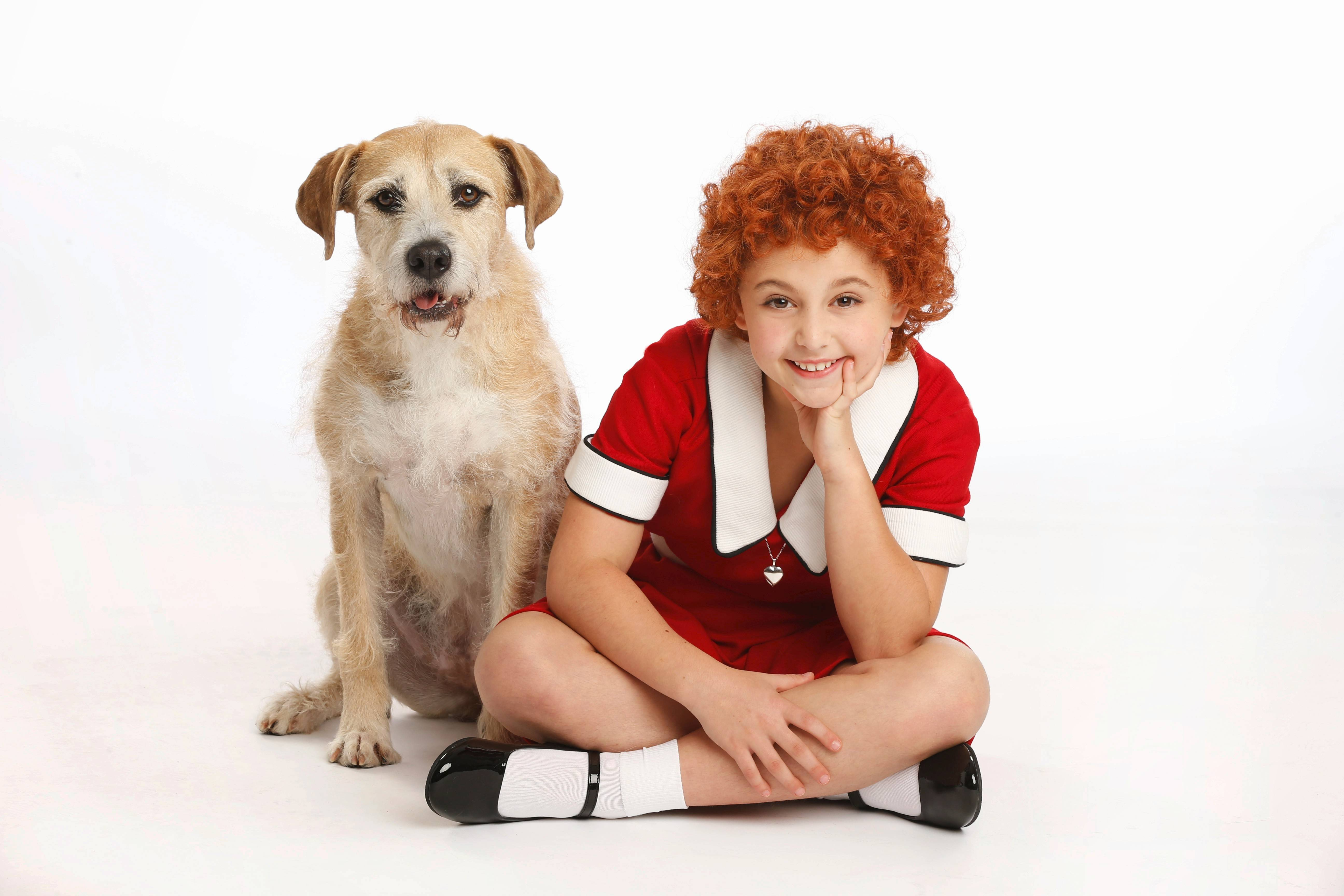 "The dog Sunny plays Sandy and Issie Sickle plays the title role in ""Annie,"" which plays the Cadillac Palace Theatre in Chicago."
