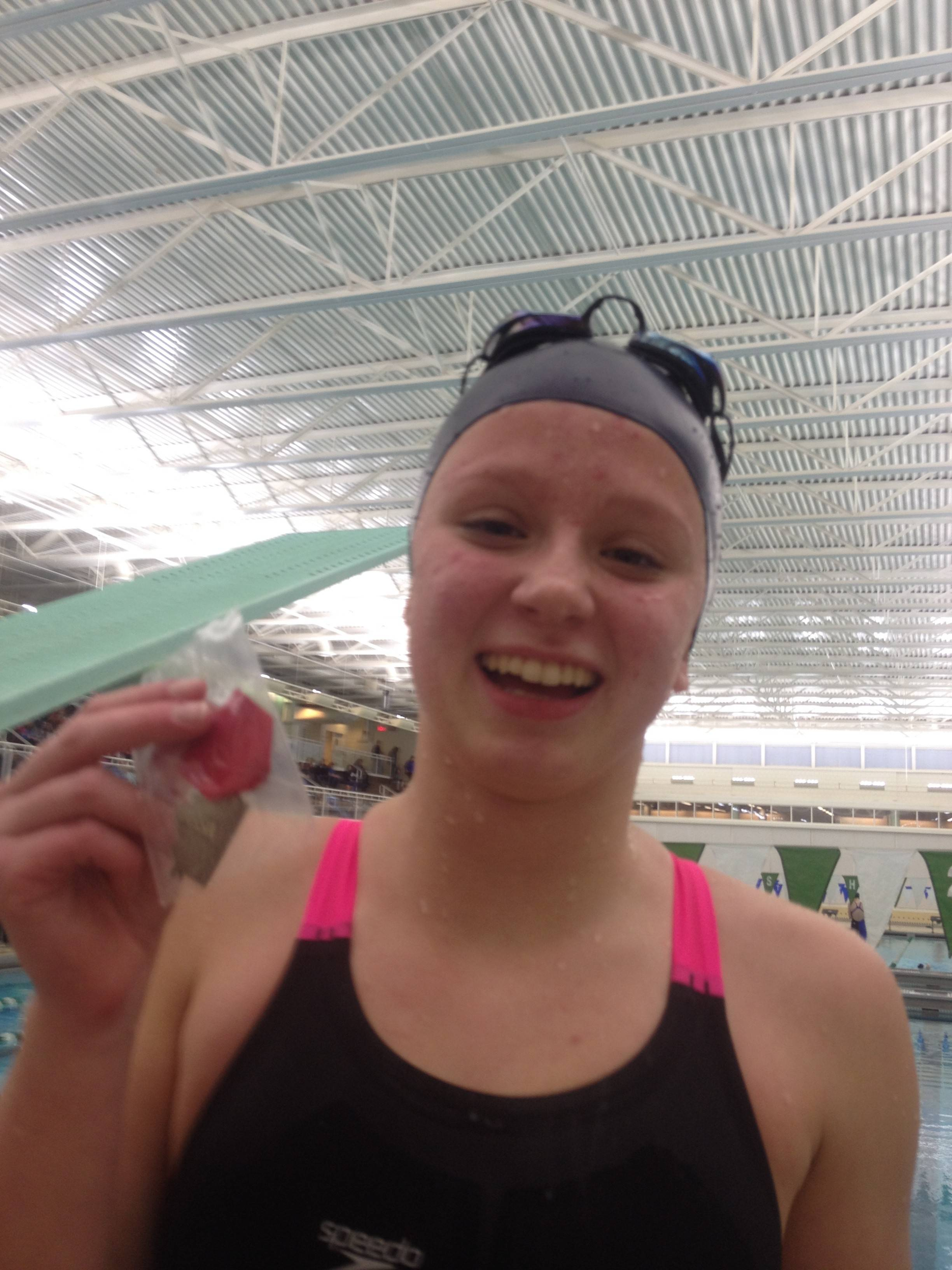 Cary-Grove senior Melissa Rose earned a fourth straight trip to the state meet with a second-place finish in the 100-yard breastroke during Saturday's sectional meet at Stevenson.