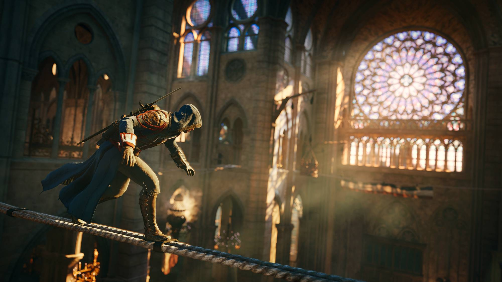 "A Parisian named Arno fights his way through the French Revolution in ""Assassin's Creed Unity."" Like his Assassin ancestors, Arno is a spectacularly agile creature with the ability to clamber up the sides of tall buildings and leap across rooftops."