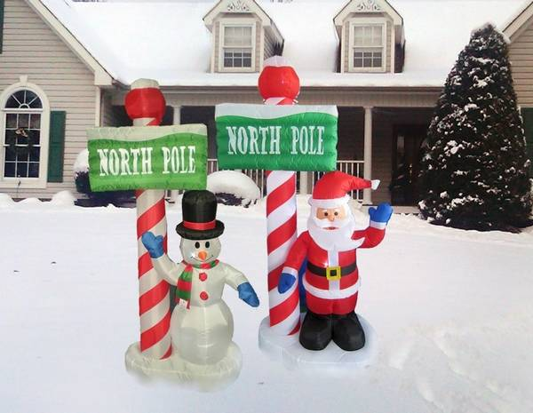 in addition to artificial christmas trees american sale stocks holiday inflatables and other outdoor decorations - American Sales Christmas Trees